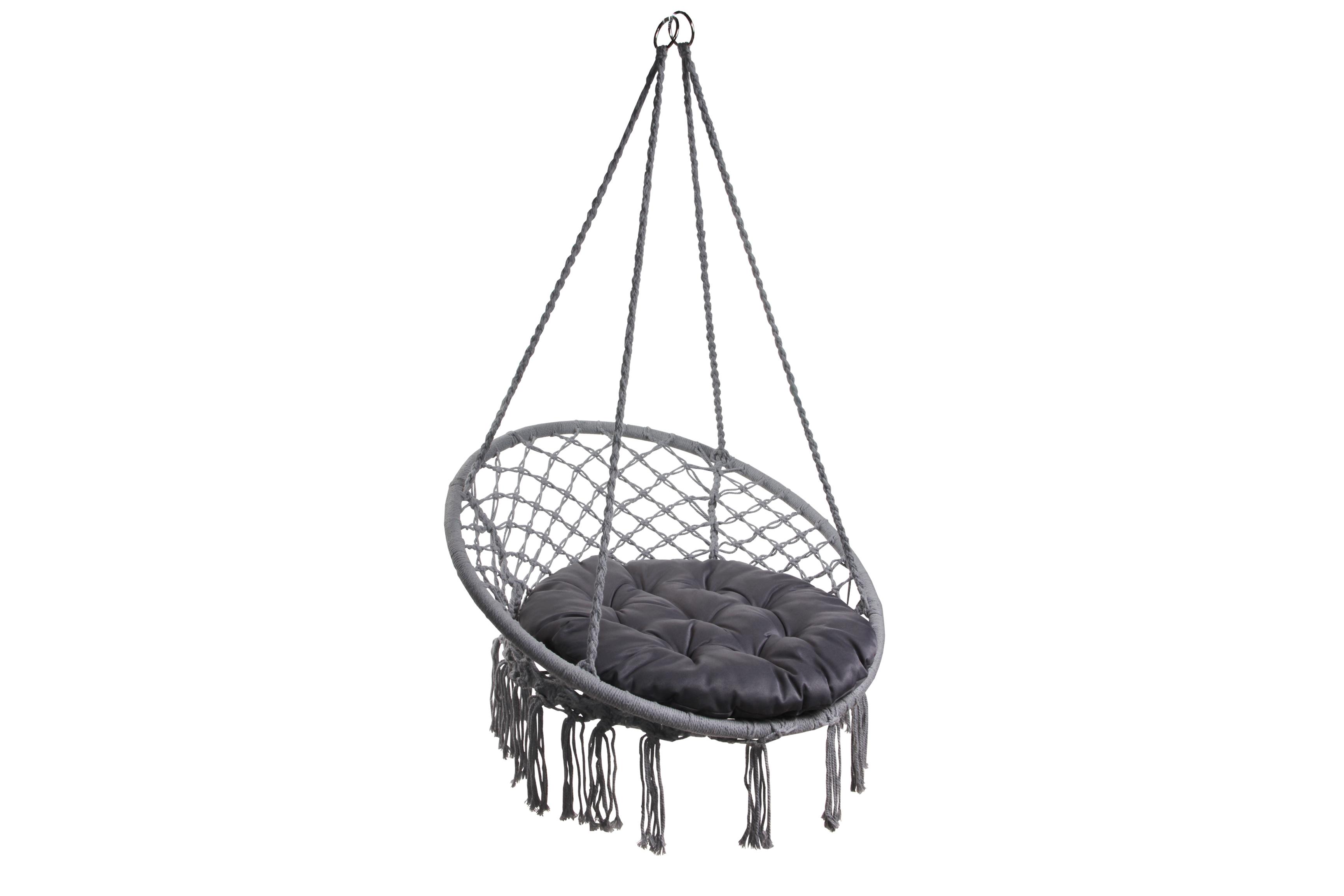 Подушка для кресла-гамака плетеного круглая RGPK-1 серый